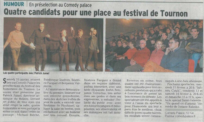 Festival de Tournon - Humoristes Grenoble
